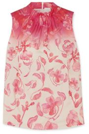 Peter Pilotto - Floral-print cotton-poplin top at Net A Porter