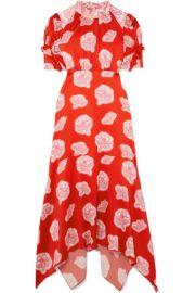 Peter Pilotto - Floral-print hammered-silk midi dress at Net A Porter