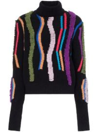 Peter Pilotto loop embroidered turtleneck jumper loop embroidered turtleneck jumper at Farfetch