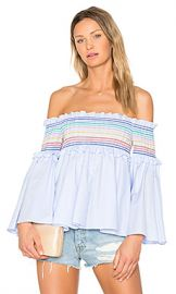 Petersyn Davenport Top in Blue Stripe from Revolve com at Revolve