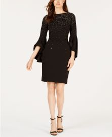 Petite Calvin Klein Embellished Sheath Dress at Macys