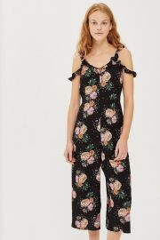 Petite Floral Print Jumpsuit by Topshop at Topshop