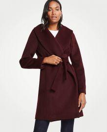 Petite Shawl Collar Wrap Coat   at Ann Taylor