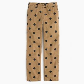 Petite boyfriend chino pant in polka dot by J. Crew at J. Crew