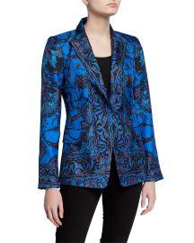 Petra Printed Silk Jacket by Kobi Halperin at Neiman Marcus