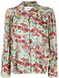 Phara Pointed Collar Floral Shirt by BaSh at Farfetch