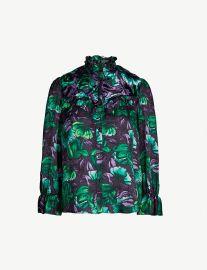 Pharaon ruffle-trim satin shirt at Selfridges