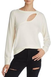 Phased Brushed Cutout Sweater by LNA at Shoptiques
