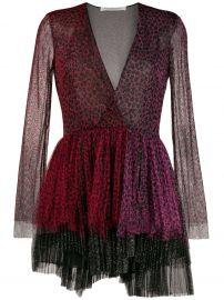 Philosophy Di Lorenzo Serafini  animal-print two-tone tulle dress at Farfetch