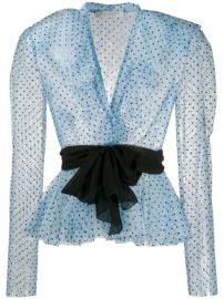 Philosophy Di Lorenzo Serafini Polka Dot Print Ruffled Blouse - Farfetch at Farfetch