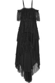 Philosophy di Lorenzo Serafini   Asymmetric tiered off-the-shoulder cotton-blend lace midi dress at Net A Porter