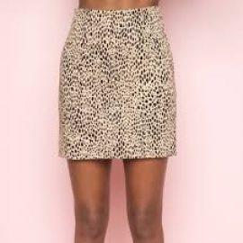 Phoebe leopard skirt at Brandy Melville