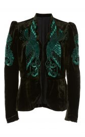 Phoenix Beaded Velvet Jacket by Anna Sui at Moda Operandi