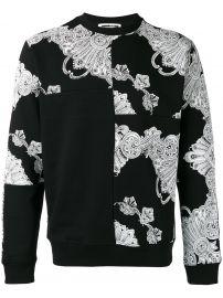 Phoenix Paisley Printed Sweatshirt by McQ Alexander Mcqueen  at Farfetch