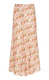 Piero Floral Satin Bias Skirt by Markarian at Moda Operandi