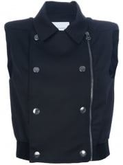 Pierre Balmain Cropped Double Breasted Gilet - at Farfetch