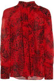 Pierre BalmainandnbspandnbspAnimal-print silk-georgette blouse at Net A Porter
