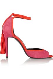 Pierre Hardy  Majorelle tasseled suede sandals at Net A Porter