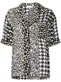 Pierre-Louis Mascia Aloeuw mixed-print silk shirt Aloeuw mixed-print silk shirt at Farfetch