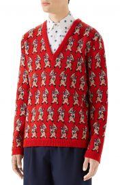 Pig Wool V-Neck Sweater at Nordstrom