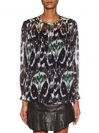 Pilay Printed Silk-Chiffon Shirt by Isabel Marant at Matches