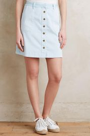 Pilcro Chino Skirt in Sky at Anthropologie