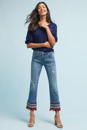 Pilcro Mid-Rise Bootcut Cropped Jeans at Anthropologie