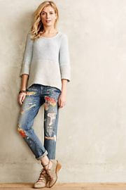 Pilcro Premium Hyphen Sweater-Patch Jeans at Anthropologie