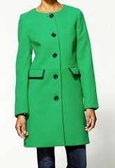 Pim and Larkin Green Collarless Coat at Piperlime