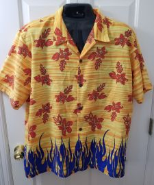 Pineapple Connection Tribal Flames Shirt at eBay