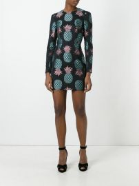 Pineapple Fitted Dress by House of Holland at Farfetch