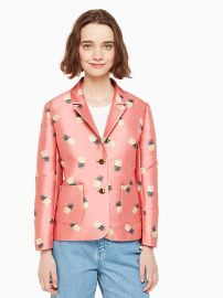 Pineapple Jacquard Jacket at Kate Spade