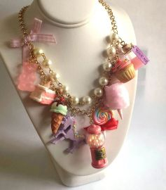 Pink Candy Shop Statement Necklace at Fatally feminine Designs