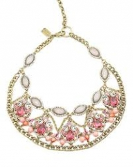 Pink Crystal and Chain Necklace at Badgley Mischka
