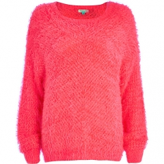 Pink Eyelash Knit Jumper at River Island