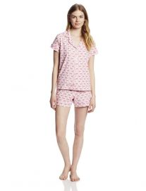 Pink Flamingo Print Pajamas by Bedhead at Amazon