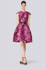 Pink Floral Dress at Carolina Herrera