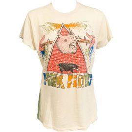 Pink Floyd Pyramid Pig Crew Tee Dirty at Olivia