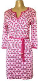 Pink Geometric Print Dress by St. john at Tradesy