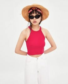 Pink Halterneck Top by Zara at Zara