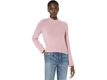 Pink Mockneck Sweater by Vince at Vince