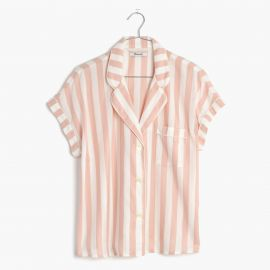 Pink Oxford Bedtime Pajama Top at Madewell