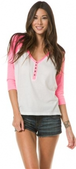 Pink Relay Henley by Billabong at Swell