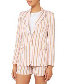Pink Striped Blazer by Frame at Frame