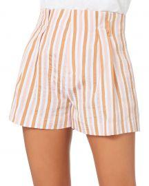 Pink Striped Shorts at Intermix