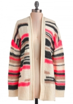 Pink and black cardigan from Modcloth at Modcloth