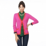 Pink and red cashmere cardigan at C Wonder at Cwonder