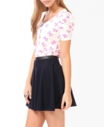 Pink bow print top at Forever 21 at Forever 21