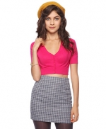 Pink cropped cardigan from Forever 21 at Forever 21