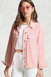 Pink denim jacket at Forever 21